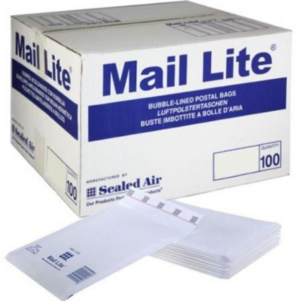 Bubble Lined Bags - Mail-Lite White<br>Size: E2 (220x260mm)<br>Pack of 100